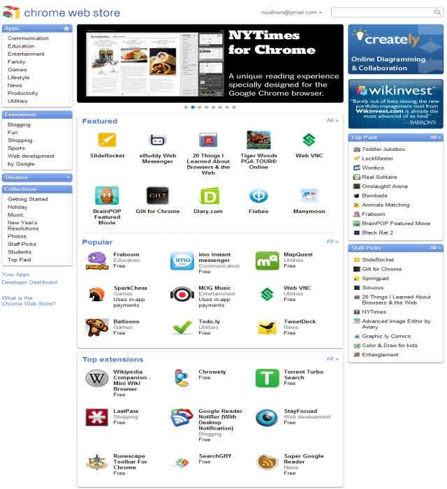 Google Chrome Web Store & Chrome OS : The Web Goes App