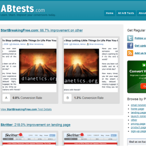 A/B tests results