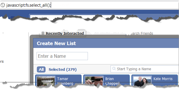Select All for Facebook Lists