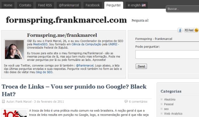 formspring frank marcel