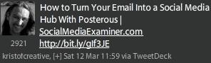 Tweet using brand URL instead of brand name