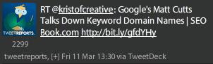Google's Matt Cutts Talks Down Keyword Domain Names SEO Book.com