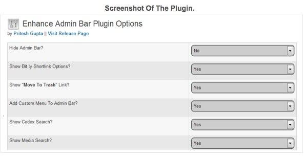 Enhance Admin Bar   PriteshGupta   WordPlugins