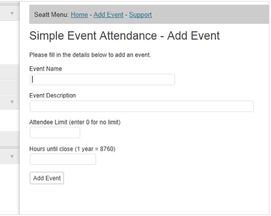 Simple Event Attendance (SEATT)   WordPress Plugins