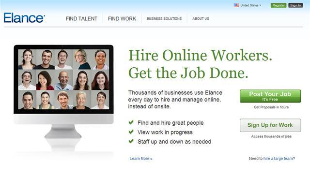 Hire a professional at Elance
