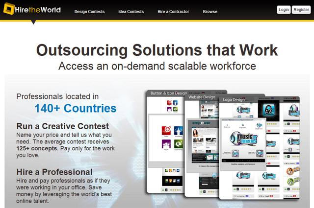 Contests and hire by HireTheWorld