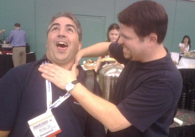Matt Cutts strangling Michael Gray