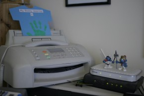 Fax and routers, with Smurfs