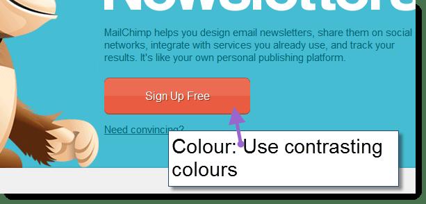 Mailchimps classic use of colour