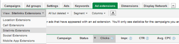 google adwords sitelinks ad extensions
