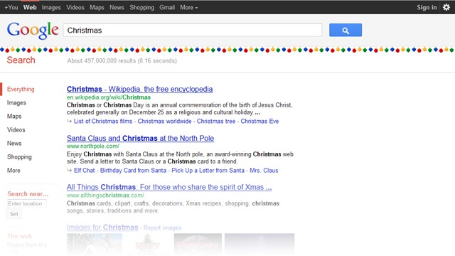 3. Google Christmas Lights