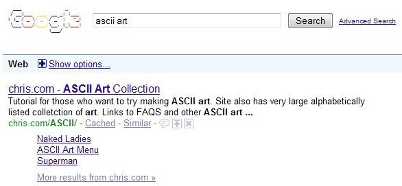 4. Google ASCII Art