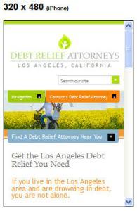 Debt Relief Attorneys, Los Angeles, CA on iPhone
