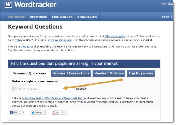 wordtracker content tool