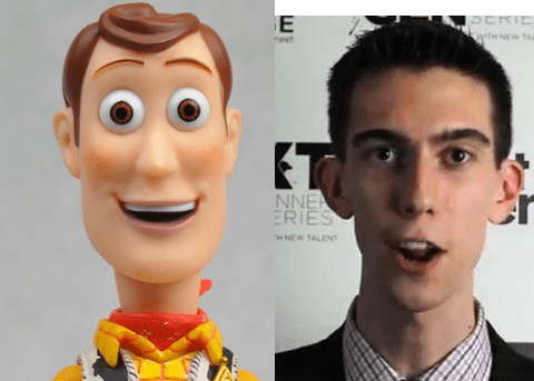 Chris and Woody from Toy Story