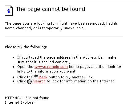 404 error, bad example