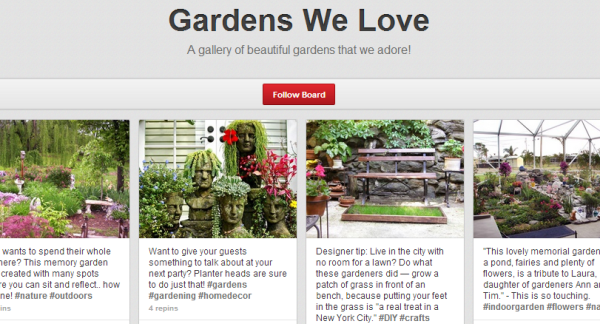 "Havahart's Pinterest board, ""Gardens We Love"""