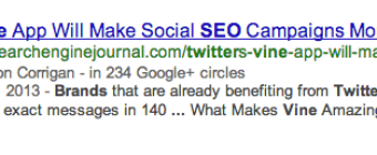 Google Authorship Markup | Google Hummingbird | Search Marketing Campaigns