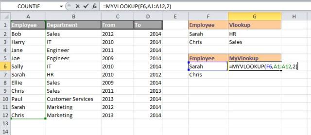 MyVoolokup formula example