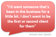 User Testing Example Quote