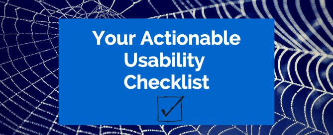 Your Actionable Usability Checklist