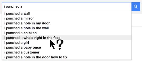 Google Suggest weird results