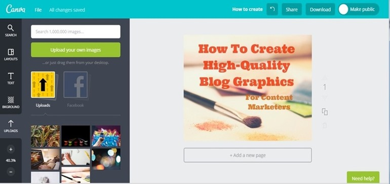 screenshot 2 create high quality blog graphics