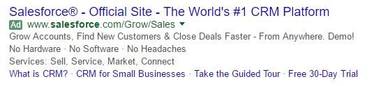 salesforce-Google-SERP