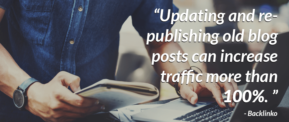 Updating old posts can boost traffic 100%