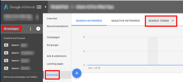 Find-Search-Terms-Report-AdWords