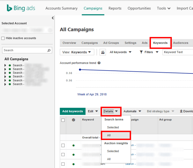 Find-Search-Terms-Report-Bing