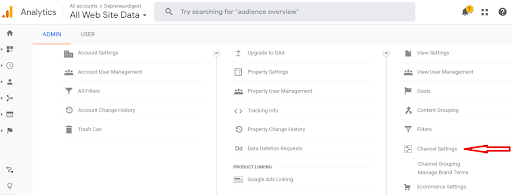 Google Analytics features - Channel groupings