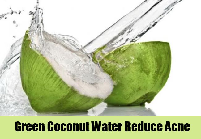 Green Coconut Water Reduce Acne