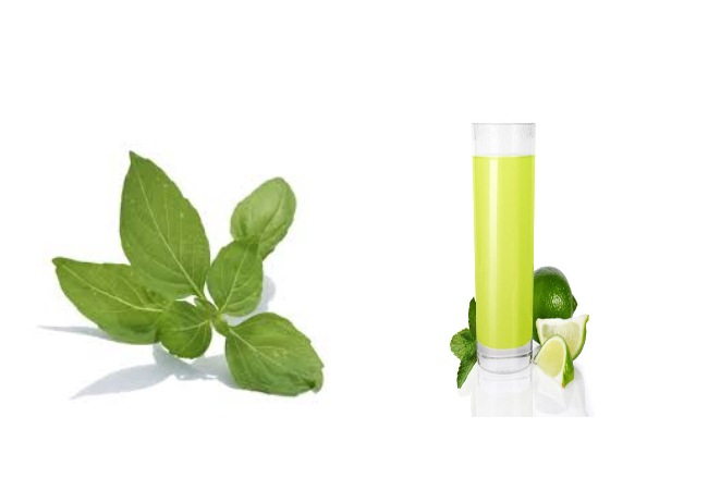 Basil Leaves And Lime Juice