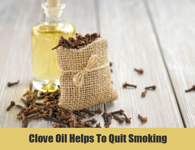 Clove Oil Helps To Quit Smoking
