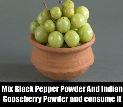 Black Pepper Powder And Indian Gooseberry