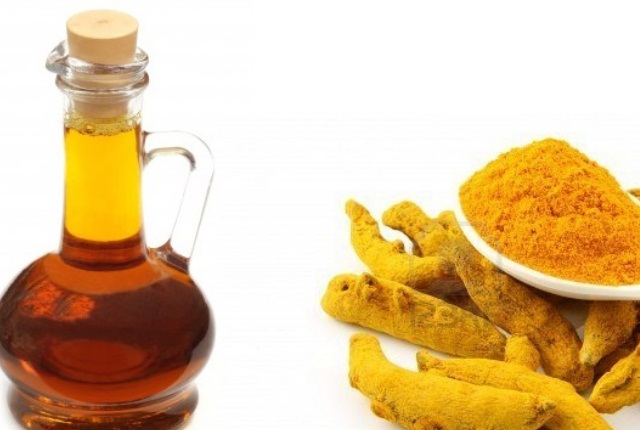 Turmeric With Warm Mustard Oil Or Ghee