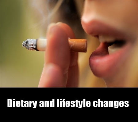 dietary and lifestyle changes