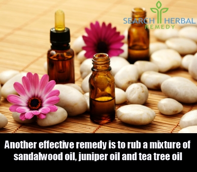 sandalwood, juniper and tea tree oil