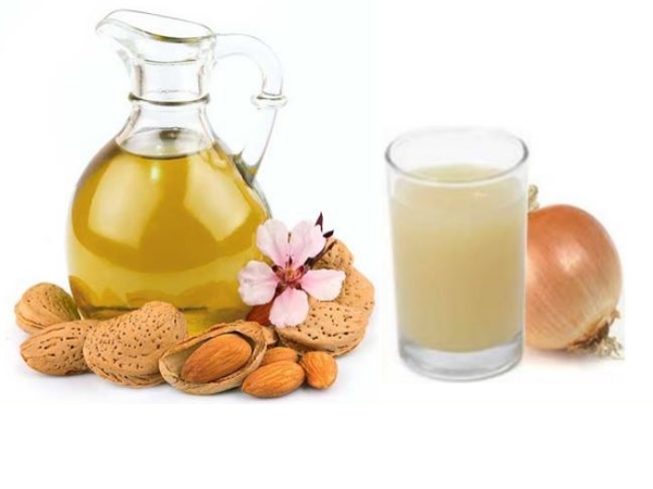 Almond Oil And Onion Juice