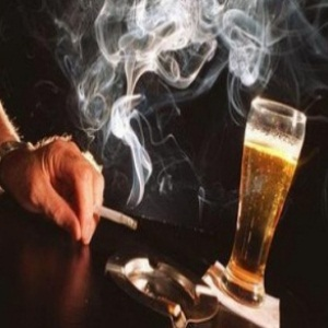 alcohol and smoking