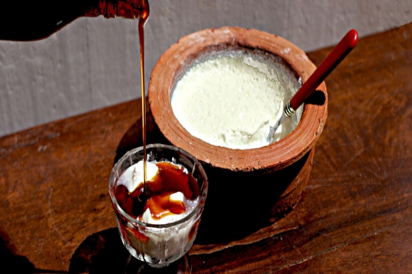 curd and honey