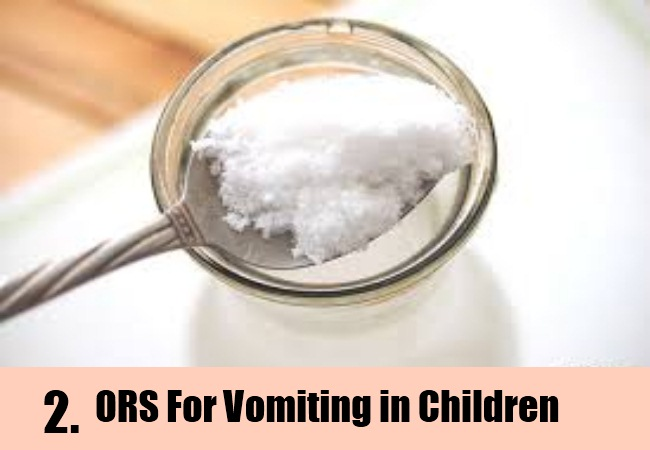 Oral Rehydration Solution or ORS