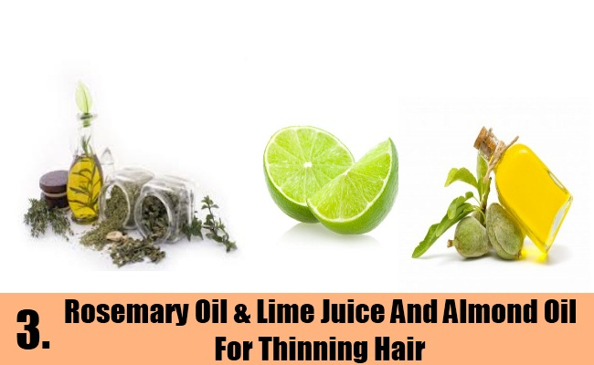 Rosemary Oil & Lime Juice And Almond Oil