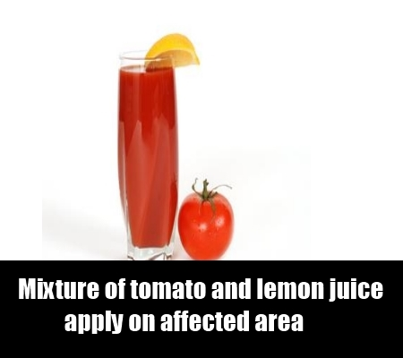 tomato and lemon juice