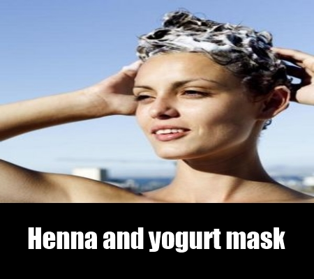 henna and yogurt mask