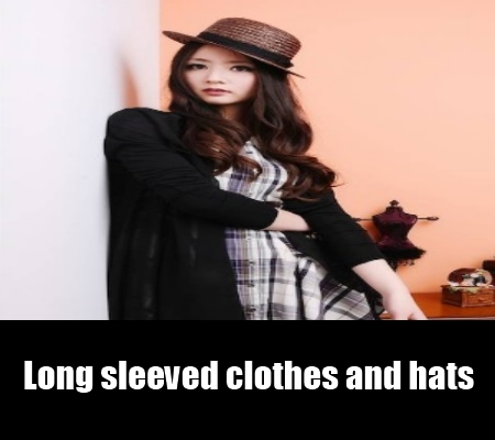 long sleeved clothes and hats