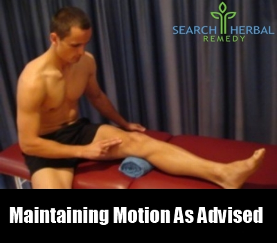 maintaining motion as advised
