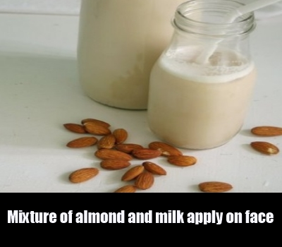 almomd and milk