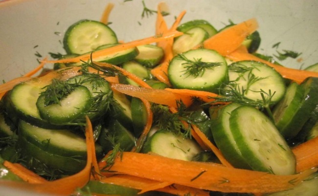 Frozen Cucumber And Carrots